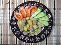 Очень вкусная тушеная картошка с мясом (свининой) - простая и вкусная еда!
