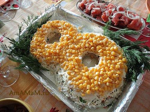 Рецепт салата с печенью трески мимоза