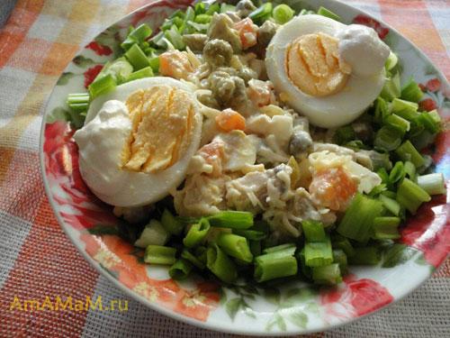 Как подать салат из курицы с авокадо - простой рецепт вкусной еды!