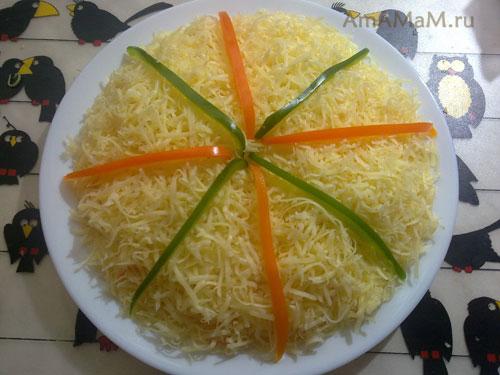 Как украсить салат красиво