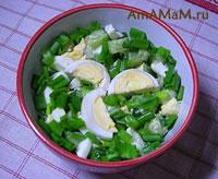 Салат из свежих огурцов с яцами и зеленым луком - рецепт