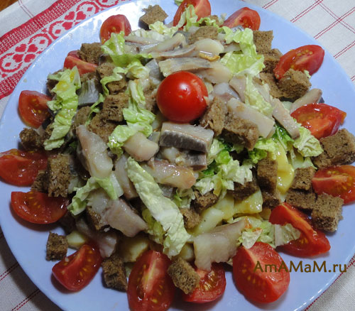 Как готовить салат из картошки и селедки