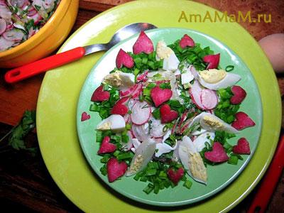 Яичный салат с редиской и зеленью - простая и вкусная еда!