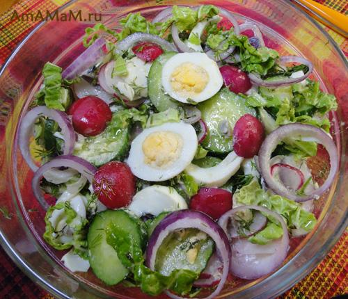 Очень вкусный салат из редиски