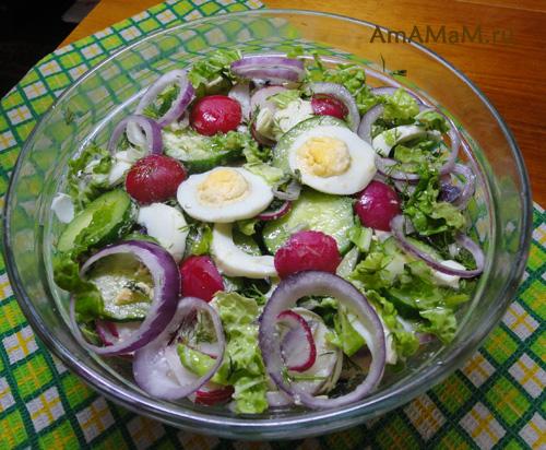 Как сделать салат из редиски
