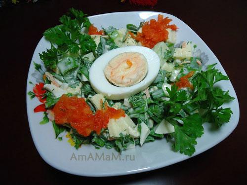 Рецепт приготовления вкусного салата из яиц, яблока и овощей - вкусно и просто!
