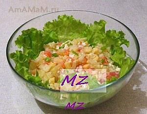 Вкусный и простой салат из семги с картошкой, рукколой, луком и зеленью!