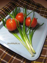 Салат Тюльпаны - рецепт и фото