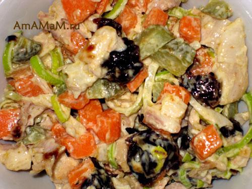 Рецепт салата ис тыквой - простой рецепт с фото