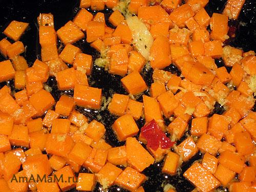 Как приготовить салат с тыквой и курицей - простой рецепт с фото
