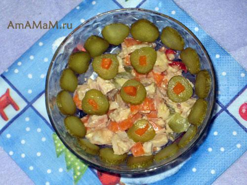 Рецепт вкусного салат из курицы с тыквой - острый и необычный