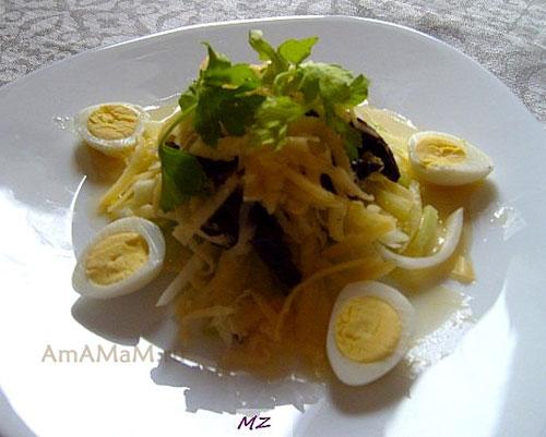 Очень вкусный и витаминный весенний салат!