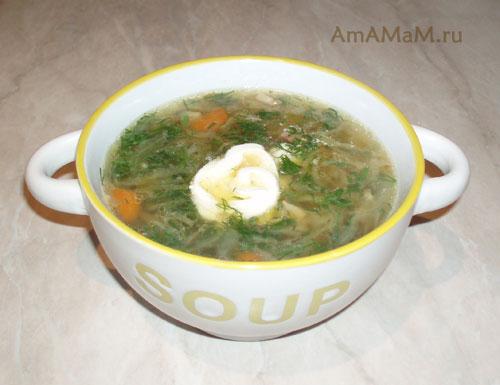 Очень вкусный суп с квашеной капустой!