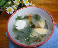 Как варить суп из щавеля на мясном бульоне
