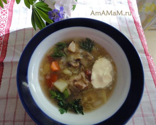 Как готовить щи из грибов простые - съешьте это немедленно! Очень вкусно!