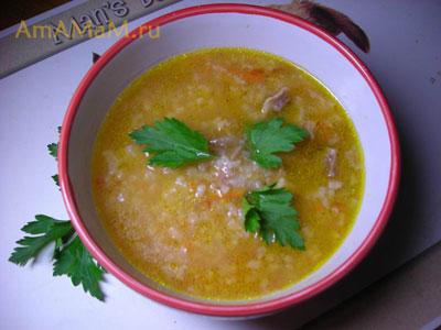 Очень вкусный домашний суп из консервов (фасоли) бульоне из баранины и с рисом