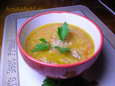 Очень вкусный суп с консервированной фасолью на бараньем бульоне