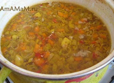 рецепт супа с пшеничной крупой
