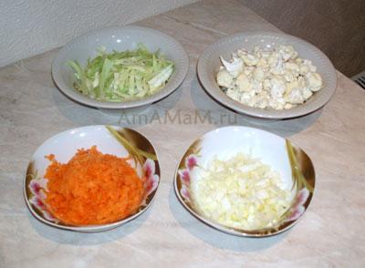 Овощи для зеленых щей из капусты цветной и белокочанной: нарезка овощей