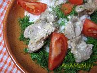 Очень вкусные тушеные куриные желудки в мацони - йогурте