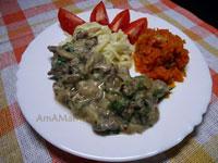 Вкусные рецепты из куриных субпродуктов: сердце с грибами и луком