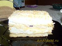 Оригинальный десерт из мороженого и слоеного теста