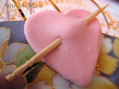 Сердце со стрелой (съедобное)
