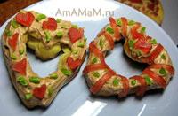 Вкусные эклеры - заварные пирожные в форме сердечек