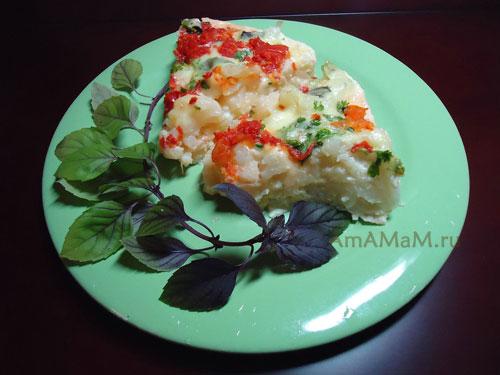 Вкусная еда из цветной капусты с сыром
