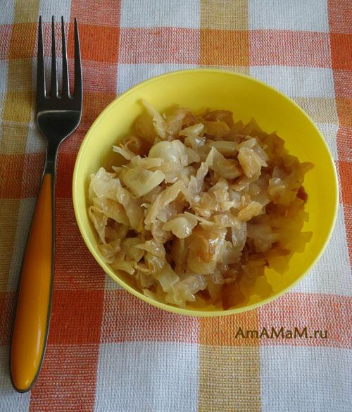Как приготовить жареную капусту - рецепт с фото!