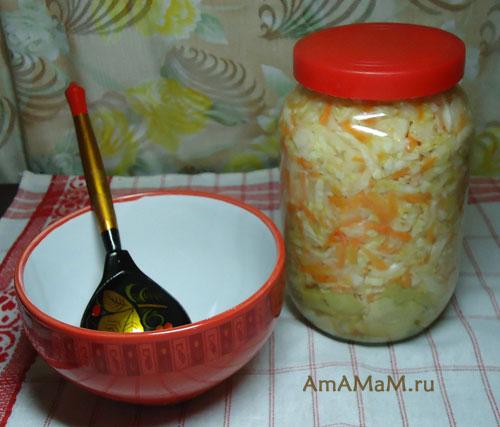 рецепт квашеной капусты приготовления в банке