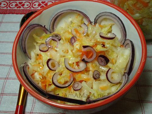 салат из краснокочанной капусты рецепт пп