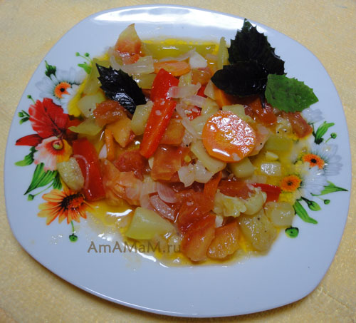 Как делать овощное рагу с кабачками - простой и вкусный рецепт!