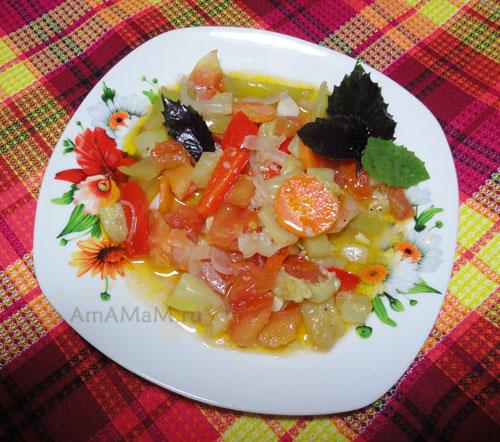 Как тушить овощное рагу - вкусный рецепт с кабачками!