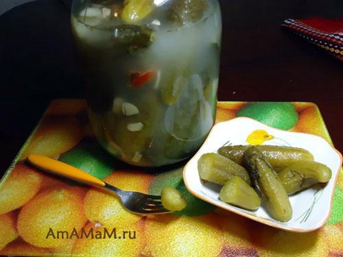Рецепт огурцов простого посола в холодной воде