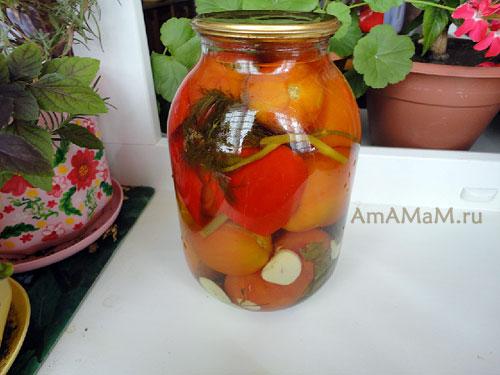 Как закрыть маринованные помидоры