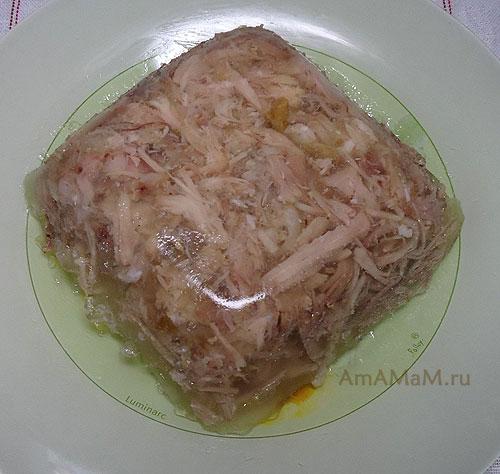 Как класть мясо в холодец - способ измельчения