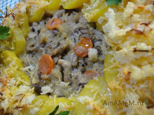Как приготовить картошку с вешенками вкусно