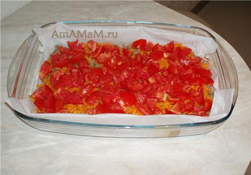 В каком порядке выложить слои запеканки из фарша и овощей